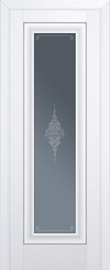 Межкомнатная дверь 24U Графит,серебро