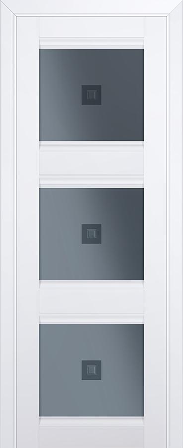 Межкомнатная дверь 4U Узор графит 2