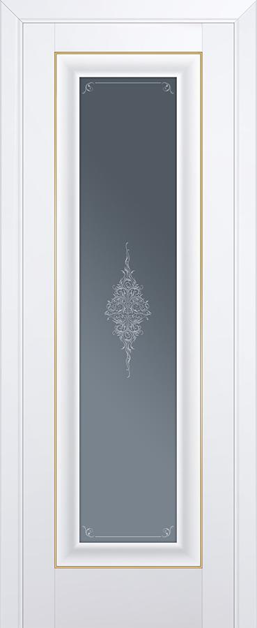 Межкомнатная дверь 24U Графит,Золото
