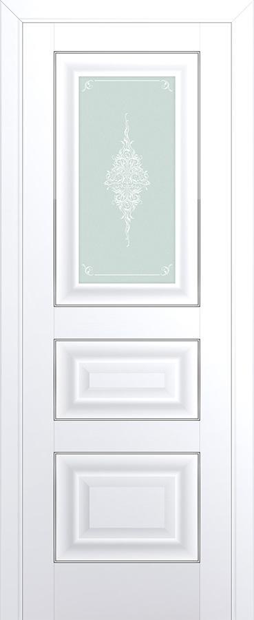 Межкомнатная дверь 26U Серебро,Кристалл графит