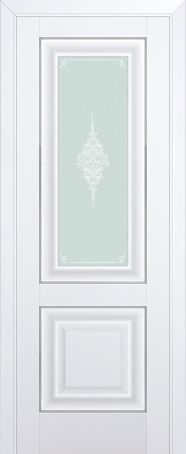 Межкомнатная дверь 28U Кристалл матовый, Серебро