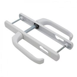 Дверная ручка на планке Apecs HP-92.7005 W для ПВХ дверей (белая) 92мм