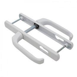 Дверная ручка на планке Apecs HP-85.7005 W для ПВХ дверей (белыя) 85мм