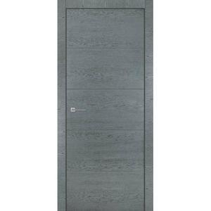 Дверь из комбинированного массива Гефест Дуб Серый Патина