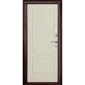 Входная дверь Прима Медный Антик панель Беленый Дуб