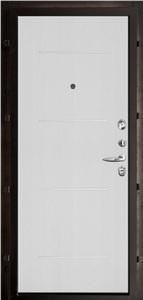 Входная дверь Колизей темное серебро панель Лайт MD-005 Белый ясень