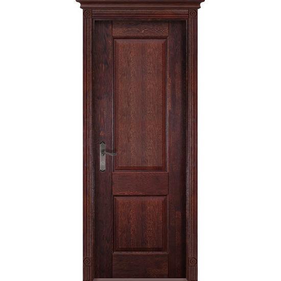 Дверь из массива дуба Verona 1 Махагон
