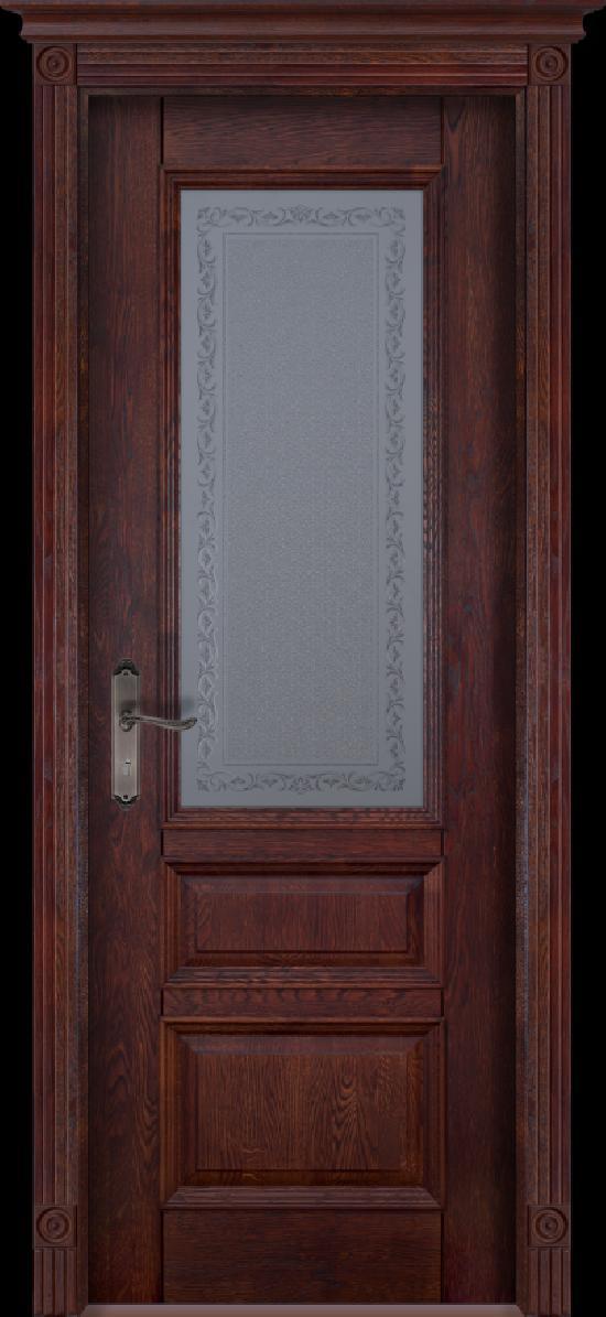 Дверь из массива дуба «Аристократ №2» Махагон