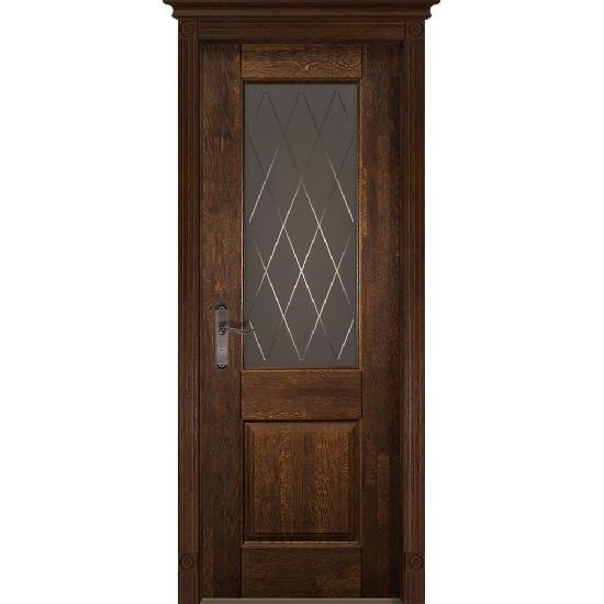 Дверь из массива дуба Verona 2 Античный орех
