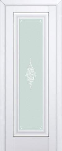 Межкомнатная дверь 24U Кристалл матовый,серебро