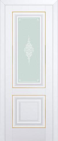 Межкомнатная дверь 28U Кристалл матовый, Золото
