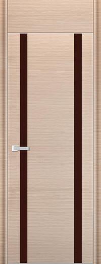 Profil Doors 9D Коричневый лак С фрамугой