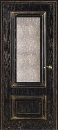 Оникс Мадрид Черная эмаль состаренное зеркало