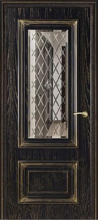 Оникс Мадрид Черная эмаль зеркало
