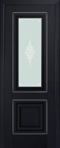 Profil doors 28U Кристалл матовый,Серебро