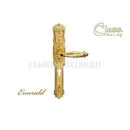 Дверная ручка на планке под цилиндр CLASS mod. 1070 Emerald CYL золото 24К