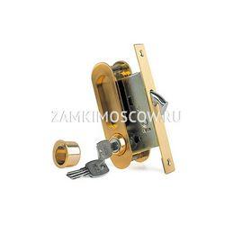 Замок для раздвижных дверей и шкафов-купе ARCHIE K01/02-V1II (матовое золото)