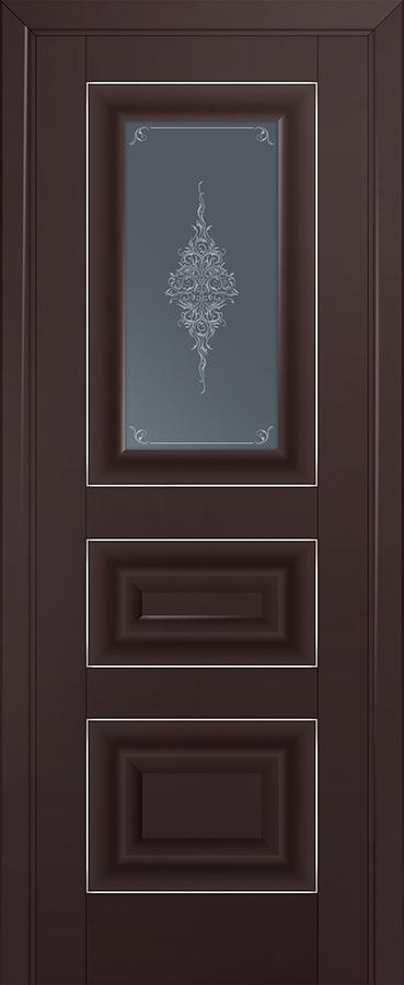 Profil doors 26U Кристалл графит,Серебро